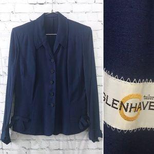 Vintage 1940's tailored blue blazer jacket